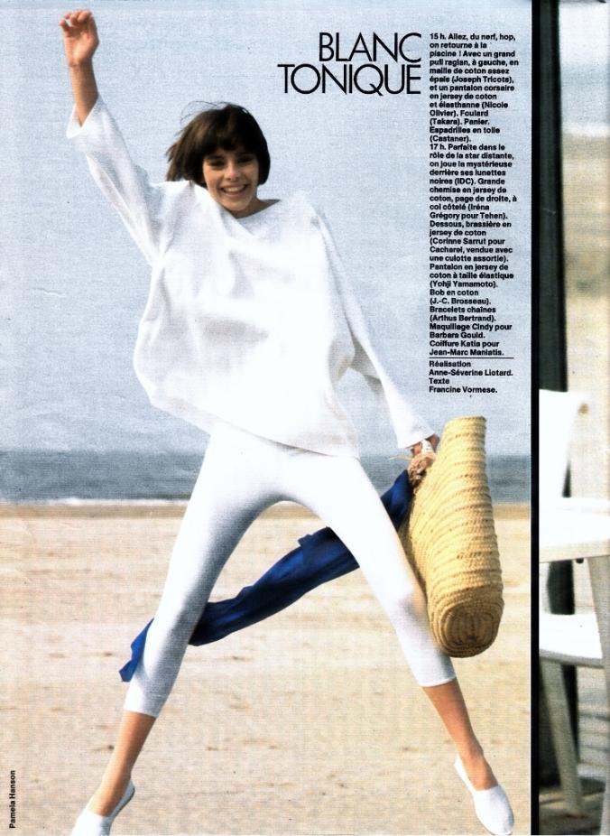 PH Pamela Hanson Model Claire Dhelens ELLE France 1985 1