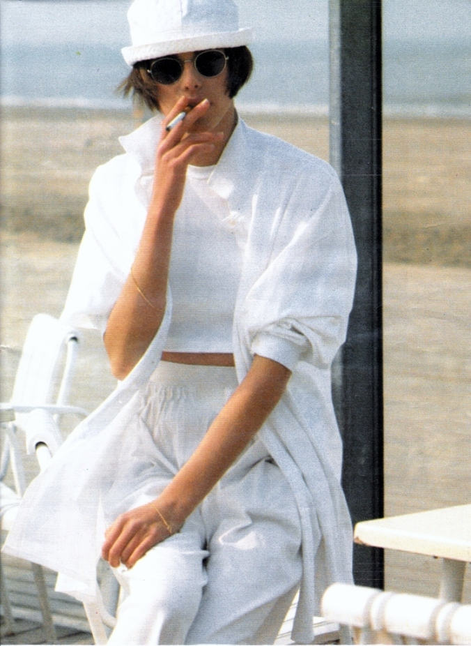 PH Pamela Hanson Model Claire Dhelens ELLE France 1985