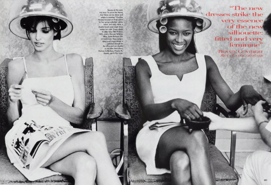 PH Pamela Hansons Models Stephanie Seymour and Naomi Campbell, VOGU 1996